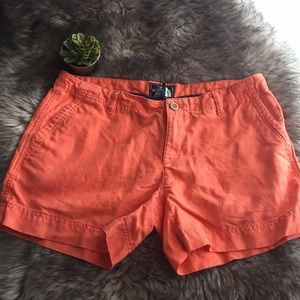 The north face heritage orange was linen shorts 8